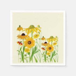 Sunflower Cousins Paper Napkins