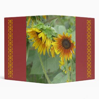 Sunflower Crop 3 Ring Binder