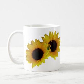 Sunflower Cups Mugs Sunny Yellow Sunflower Cups
