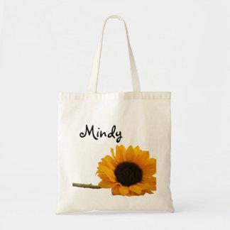 Sunflower Custom Name Bag