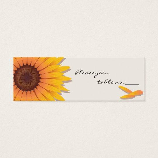 Sunflower Custom Table Place Card