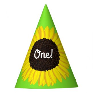 Sunflower Cute 1st Birthday Party Hats