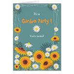 Sunflower Daisy Garden Birthday Party Invitation 2 Cards