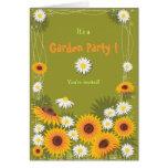 Sunflower & Daisy Garden Birthday Party Invitation Greeting Cards