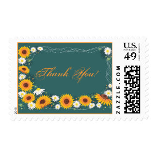 Sunflower & Daisy Thank You Stamp