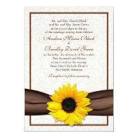 Sunflower Damask Floral Wedding Invitation (<em>$2.27</em>)