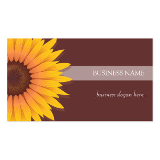 Sunflower Dark Background Business Double-Sided Standard Business Cards (Pack Of 100)