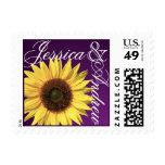 Sunflower Dark Purple Postage Stamp