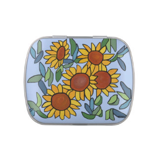 Sunflower Day Jelly Belly Tin