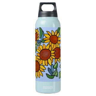 Sunflower Day 16 Oz Insulated SIGG Thermos Water Bottle