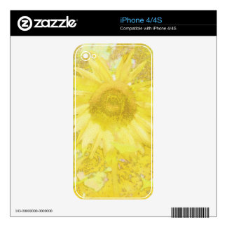 Sunflower Dazzle Decals For The iPhone 4S