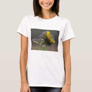 Sunflower Decorated By Spider Web Women's Shirt