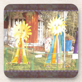 SUNFLOWER decorations at Surajkund Festival India Beverage Coaster