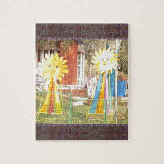 SUNFLOWER decorations at Surajkund Festival India Jigsaw Puzzle
