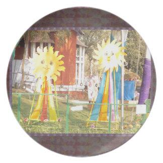 SUNFLOWER decorations at Surajkund Festival India Melamine Plate