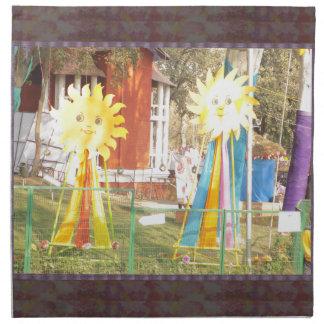 SUNFLOWER decorations at Surajkund Festival India Napkin