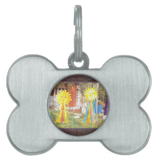 SUNFLOWER decorations at Surajkund Festival India Pet ID Tag