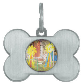SUNFLOWER decorations at Surajkund Festival India Pet Name Tag