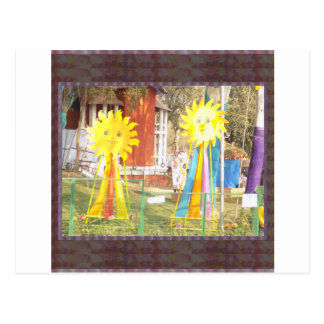 SUNFLOWER decorations at Surajkund Festival India Postcard