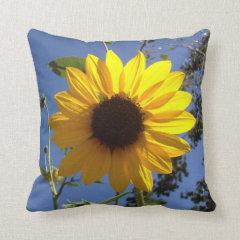 Sunflower Decorative Accent Throw Pillow