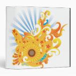 Sunflower Design 3 Ring Binder