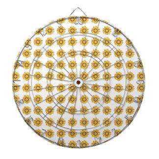 Sunflower Design. Artistic Flowers Pattern Dart Boards