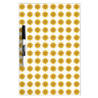 Sunflower Design. Artistic Flowers Pattern Dry Erase Whiteboards