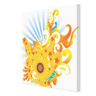 Sunflower Design Gallery Wrap Canvas