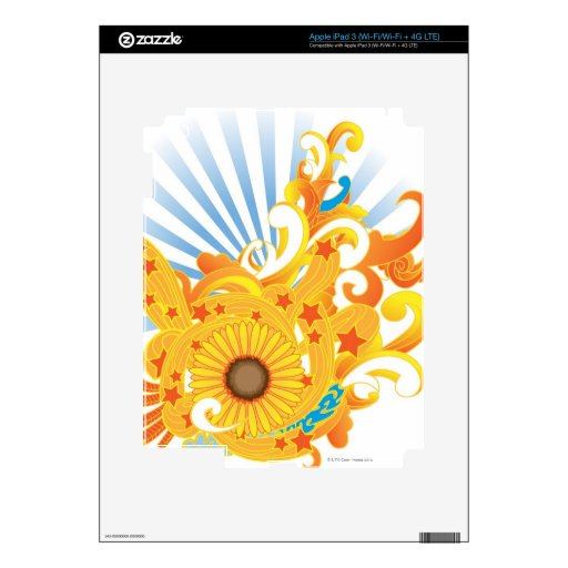 Sunflower Design Decals For iPad 3