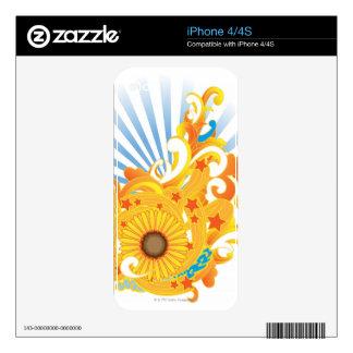 Sunflower Design iPhone 4 Decals