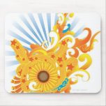 Sunflower Design Mouse Pad