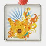 Sunflower Design Ornament