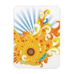Sunflower Design Vinyl Magnets