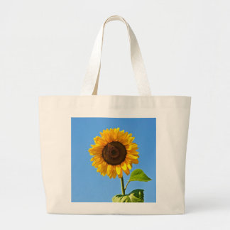 sunflower dial large tote bag
