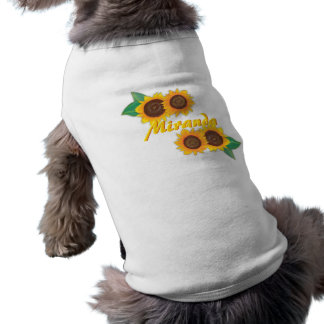 Sunflower Dog T Tee