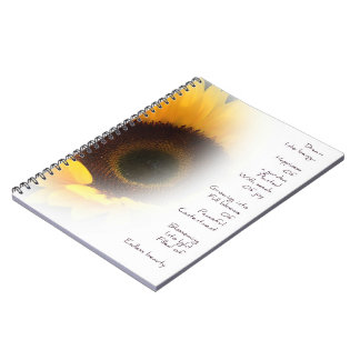 Sunflower Dream Poem Notebook