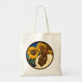 Sunflower Dutch rabbit Tote Bag