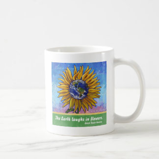 Sunflower Earth Art Coffee Mug