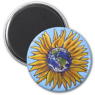 Sunflower Earth Magnet