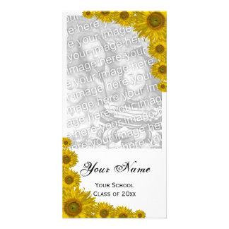 Sunflower Edge Graduation Announcement Photo Card