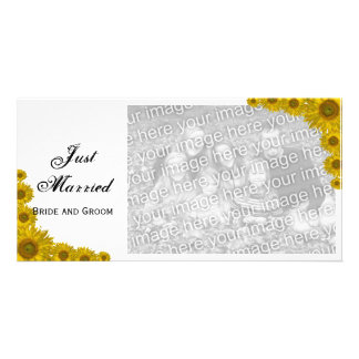 Sunflower Edge Just Married Announcement