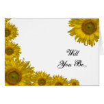 Sunflower Edge Will You Be My Bridesmaid Card