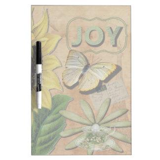 Sunflower & Eiffel Tower Dry Erase Board