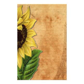 Sunflower & Eiffel Tower Stationery