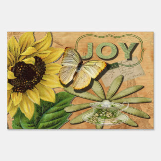 Sunflower & Eiffel Tower Yard Sign