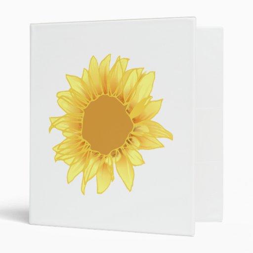 Sunflower Elegance Binder