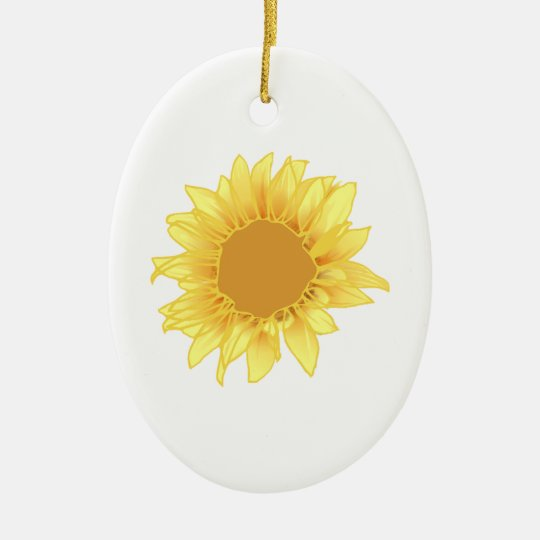 Sunflower Elegance Ceramic Ornament