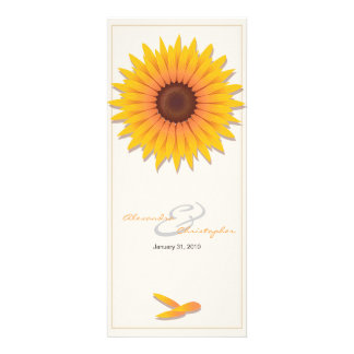 Sunflower Elegant Wedding Invitation Announcement