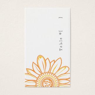 Sunflower Escort Card