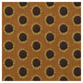 Sunflower Fabric Sunflower Fabric Cotton or Poly